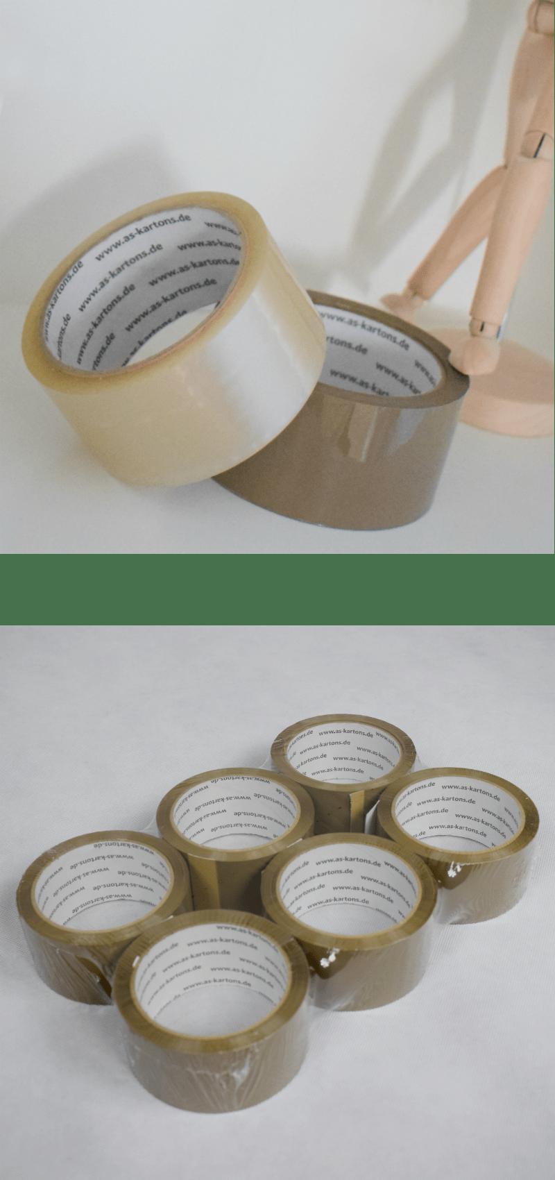 Klebebänder, Klebeband, Klebeband verpackung - As-kartons.de